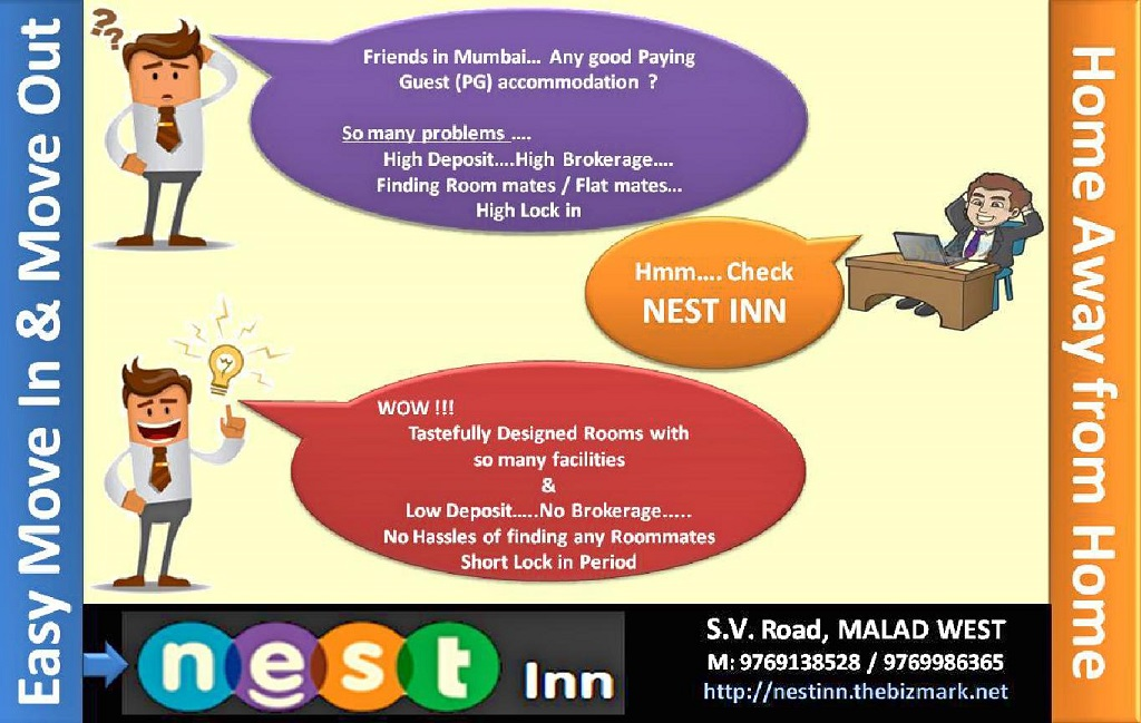 nest inn malad mumbai paying guest ad